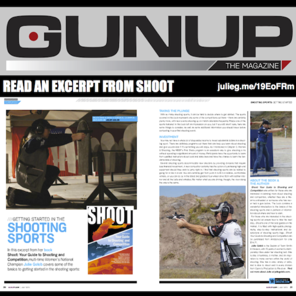 Read an excerpt from SHOOT: Your Guide to Shooting and Competition in Gun Up The Magazine.