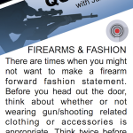 SHOOT Quick Tip - Firearms & Fashion