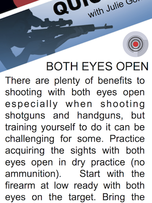 SHOOTing Tip – Struggle with Keeping Both Eyes Open? This Tip is for You!