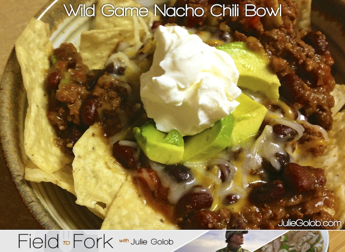 Game Day Wild Game Nacho Chili Bowl