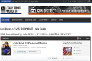 LegallyArmedAmercia.TV Hosts Interactive Live Streaming Interview with Julie Golob #NRAAM2015