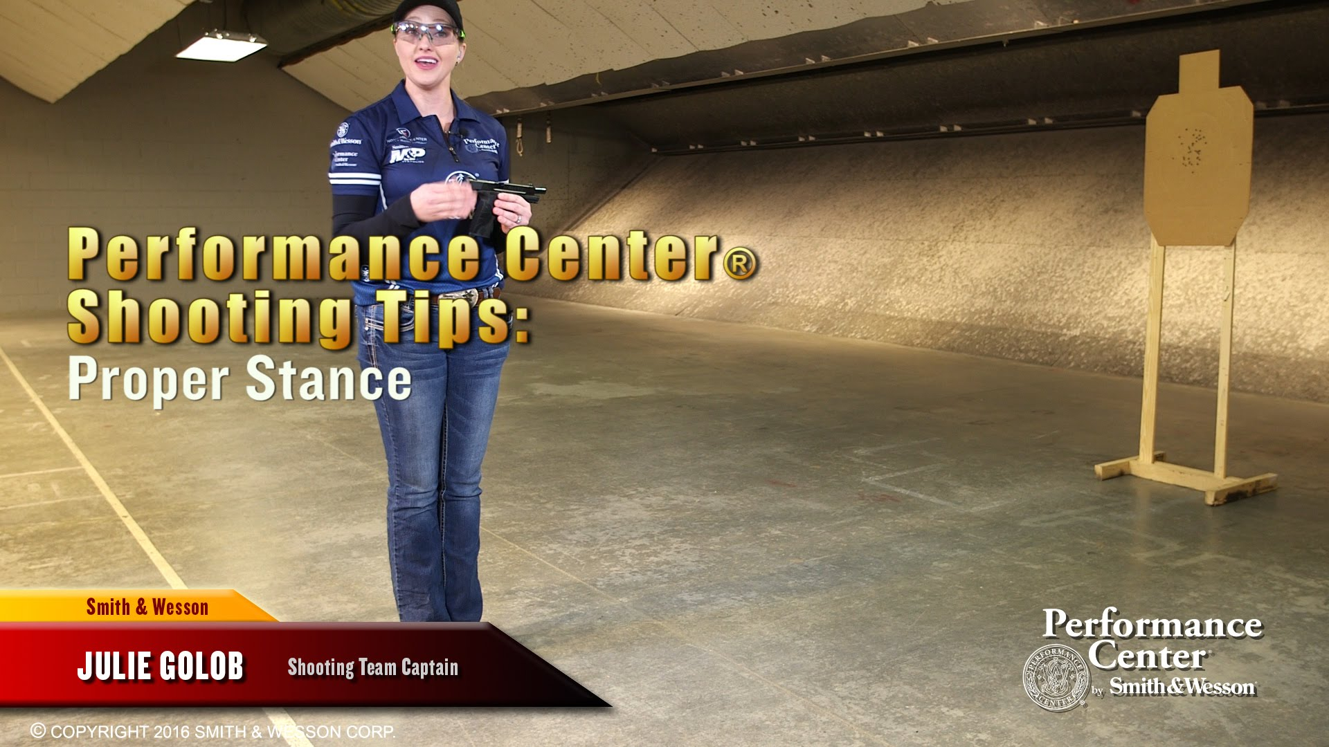 Use Proper Stance - S&W Performance Center Tip