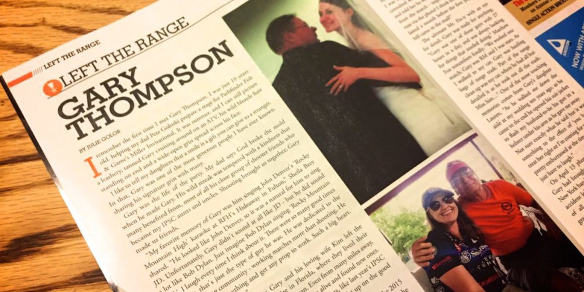 Front Sight Magazine - RIP Gary Thompson