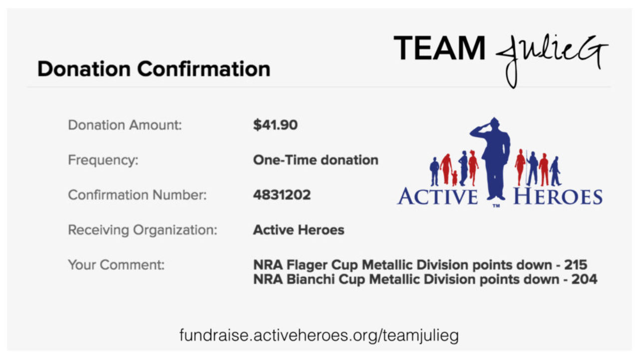 Aiming for Zero with Active Heroes Donation