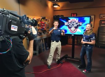 Julie Golob - Shooting USA Bianchi Cup Color Commentator