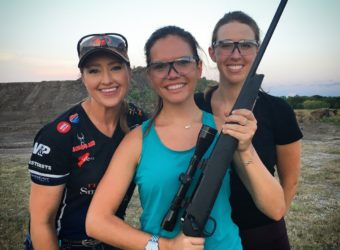 Julie Golob teaches Love at First Shot's Erin and Maddy on the Thompson Center Compass