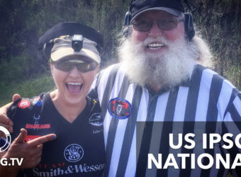 Julie Golob & Santa at the US IPSC Nationals