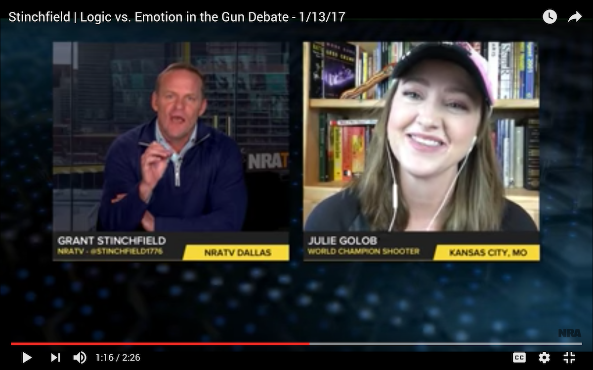 Julie Golob on NRA.TV LIVE Talking SHOT Show and Gun Rights