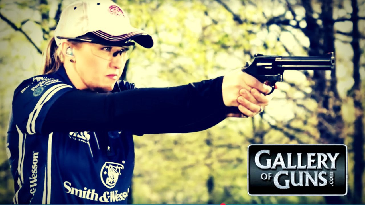 Julie Golob Shoot the S&W 586 Compact Magnum on Gallery of Guns TV