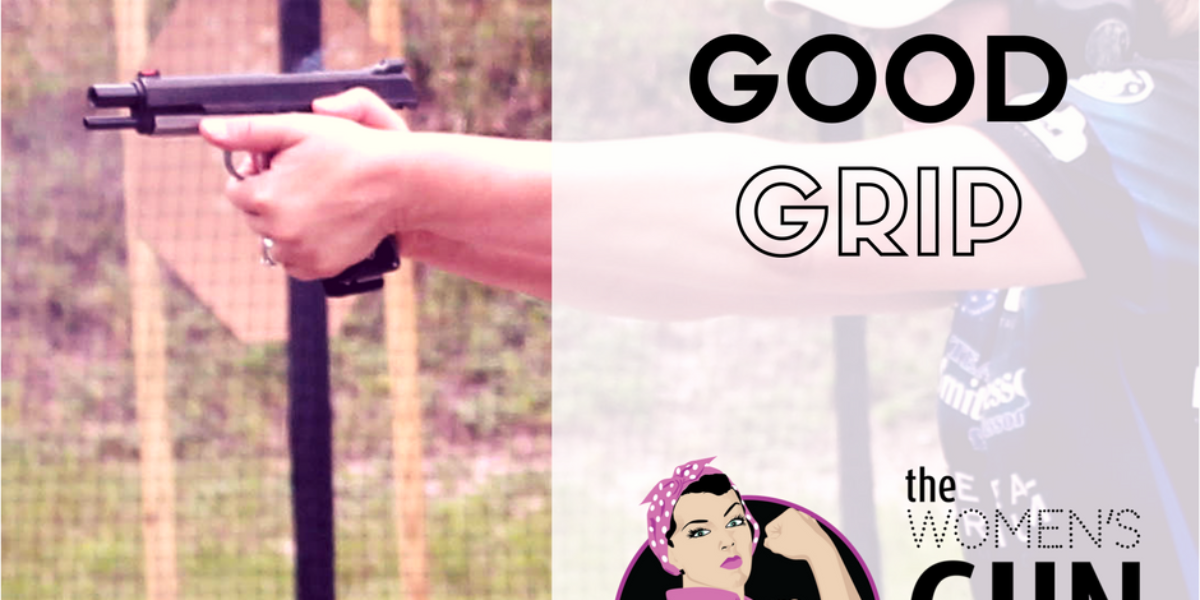 Episode 54 of the Women's Gun Show Podcast features a grip tip with Julie Golob