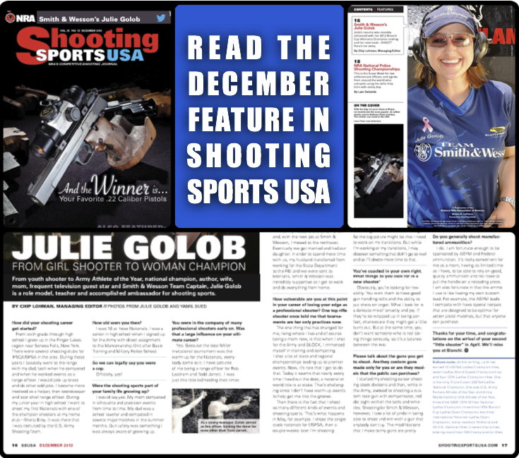 Shooting Sports USA - December 2012 Issue Featuring Julie Golob