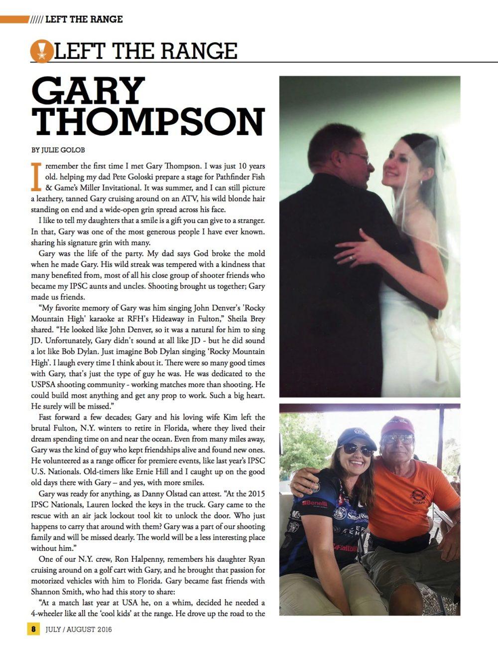 In loving memory… RIP Gary Thompson – Julie Golob