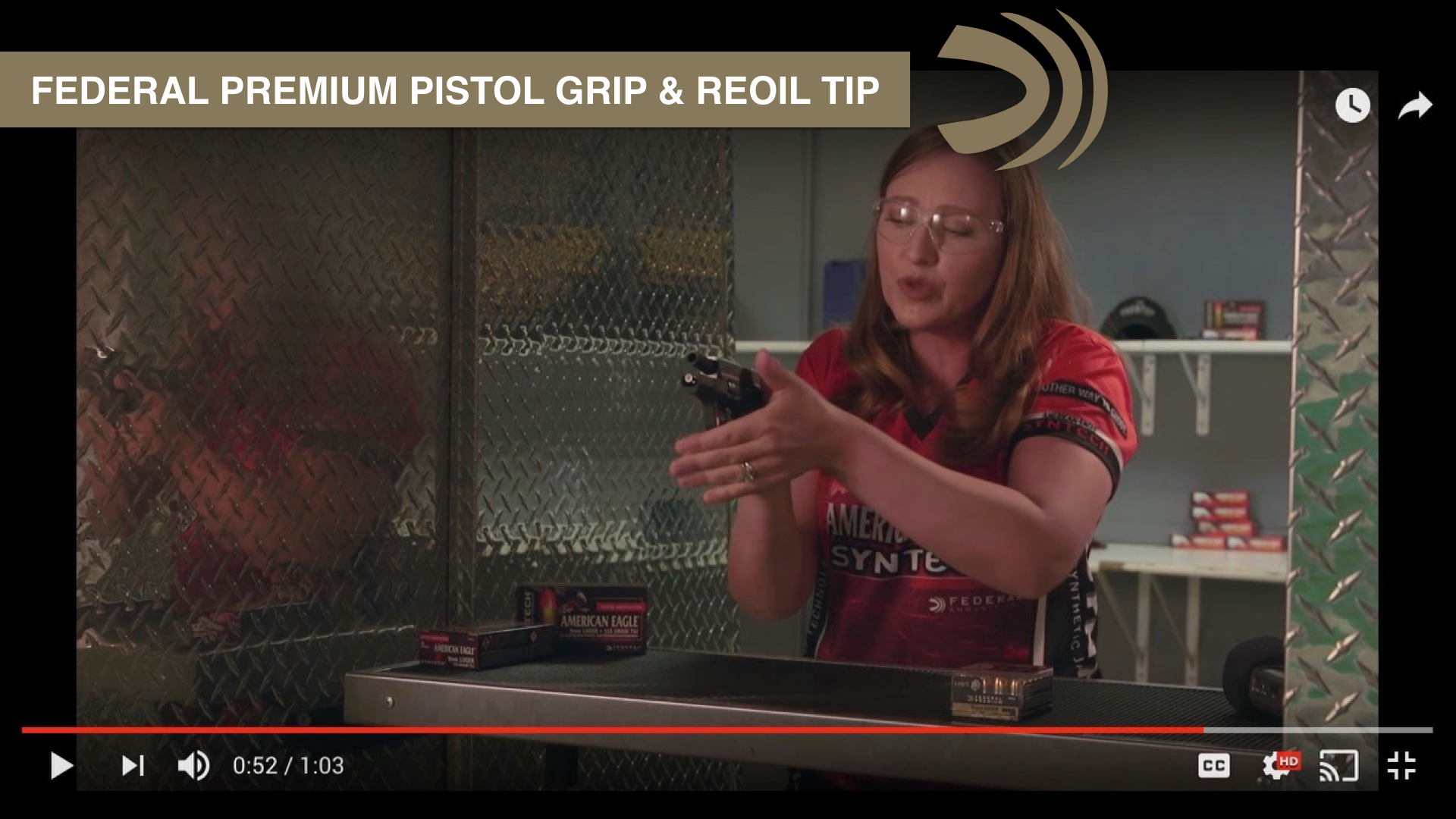 Control recoil better with this tip from Federal Premium & Julie Golob