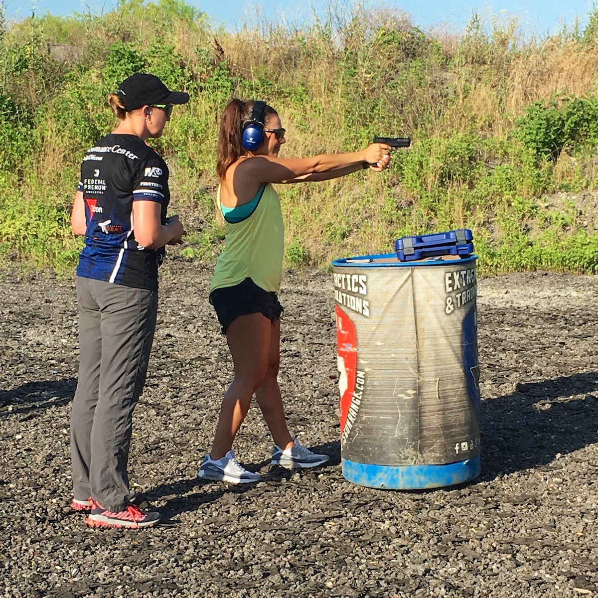 Julie Golob teaches Jasmine with the M&P on Love at First Shot
