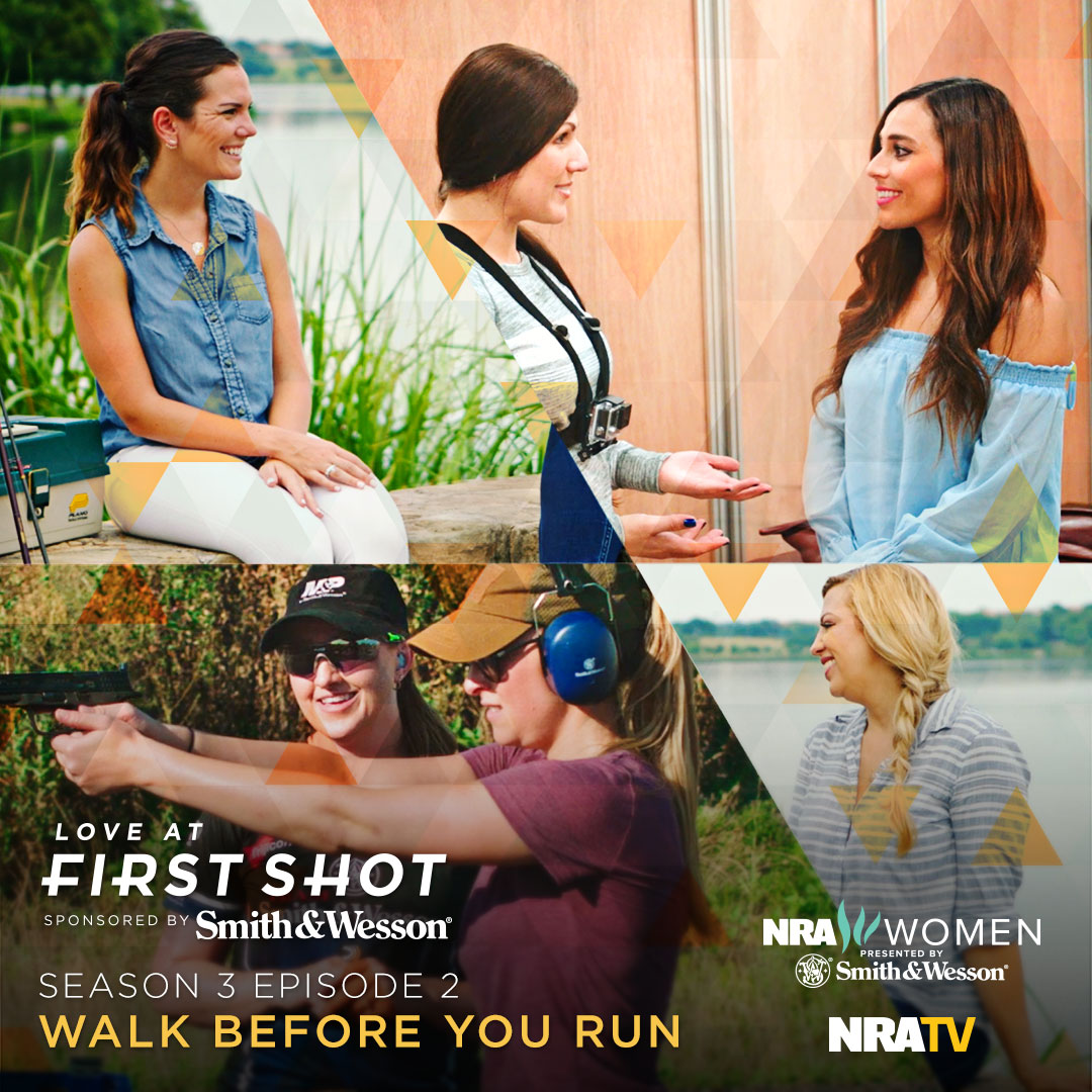 Julie Golob instructs Natalie for her first action shooting competition #loveatfirstshot