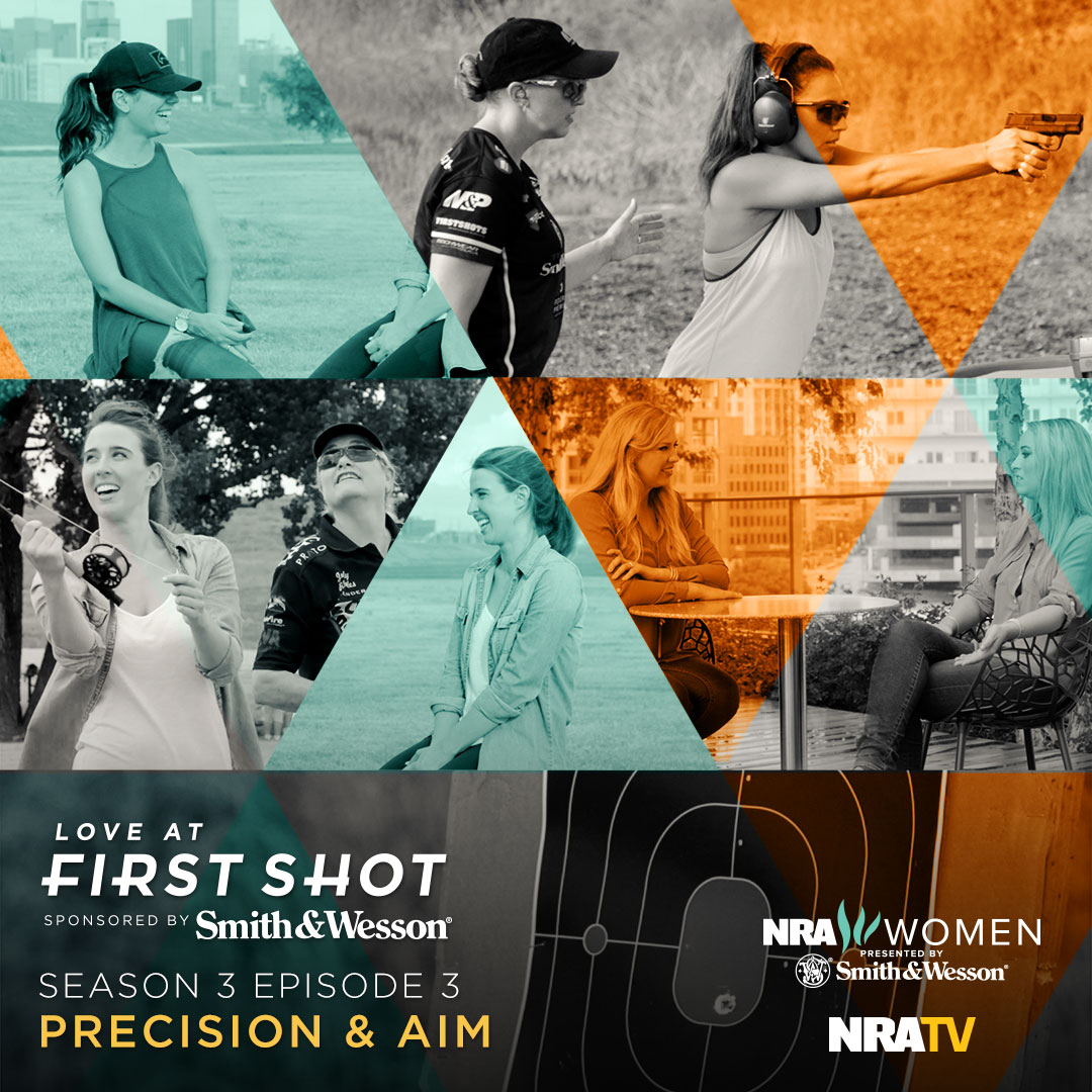Watch Julie Golob take Jasmine shooting for the first time on Love at First Shot