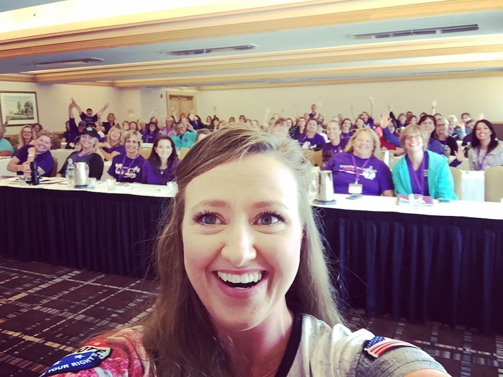 Julie Golob speaks to a packed Well Armed Woman National Leader Conference