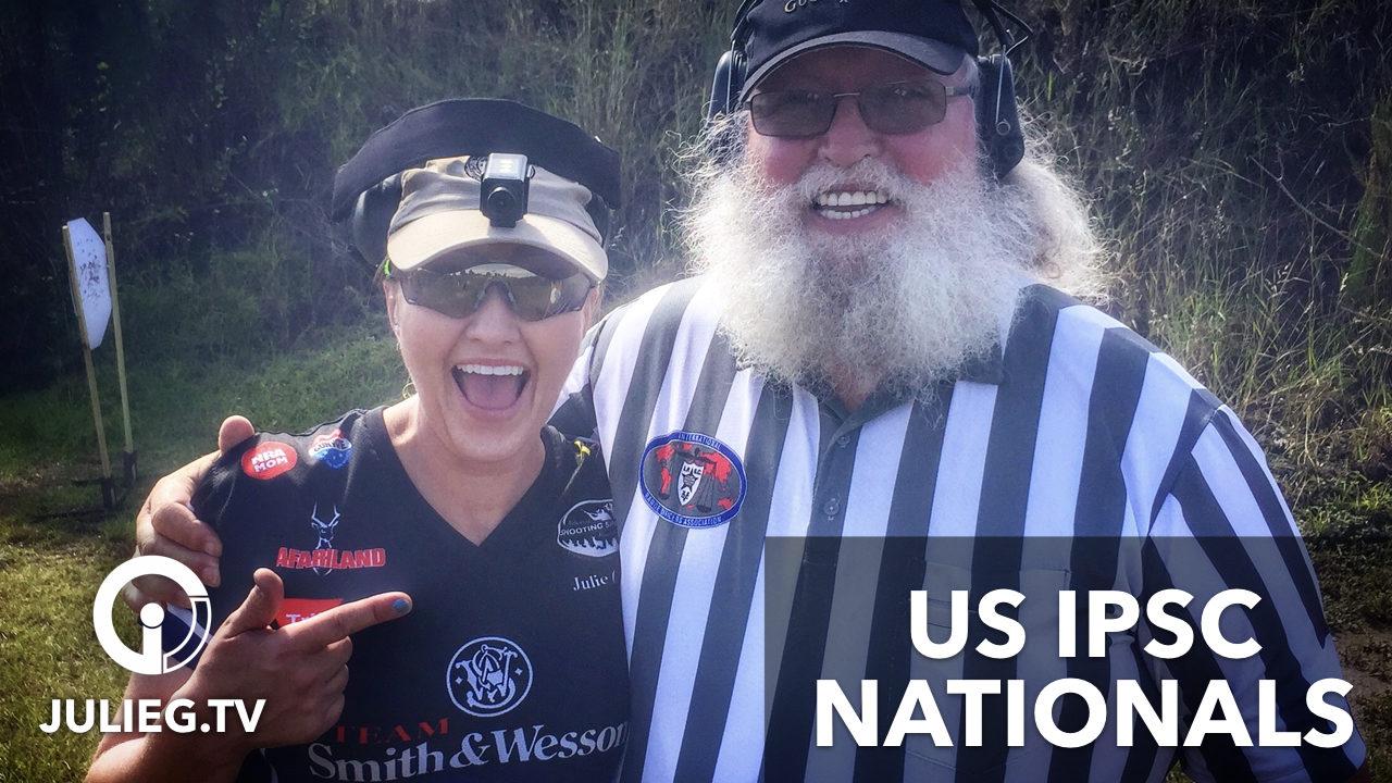 Julie Golob & Santa at the US IPSC Nationals