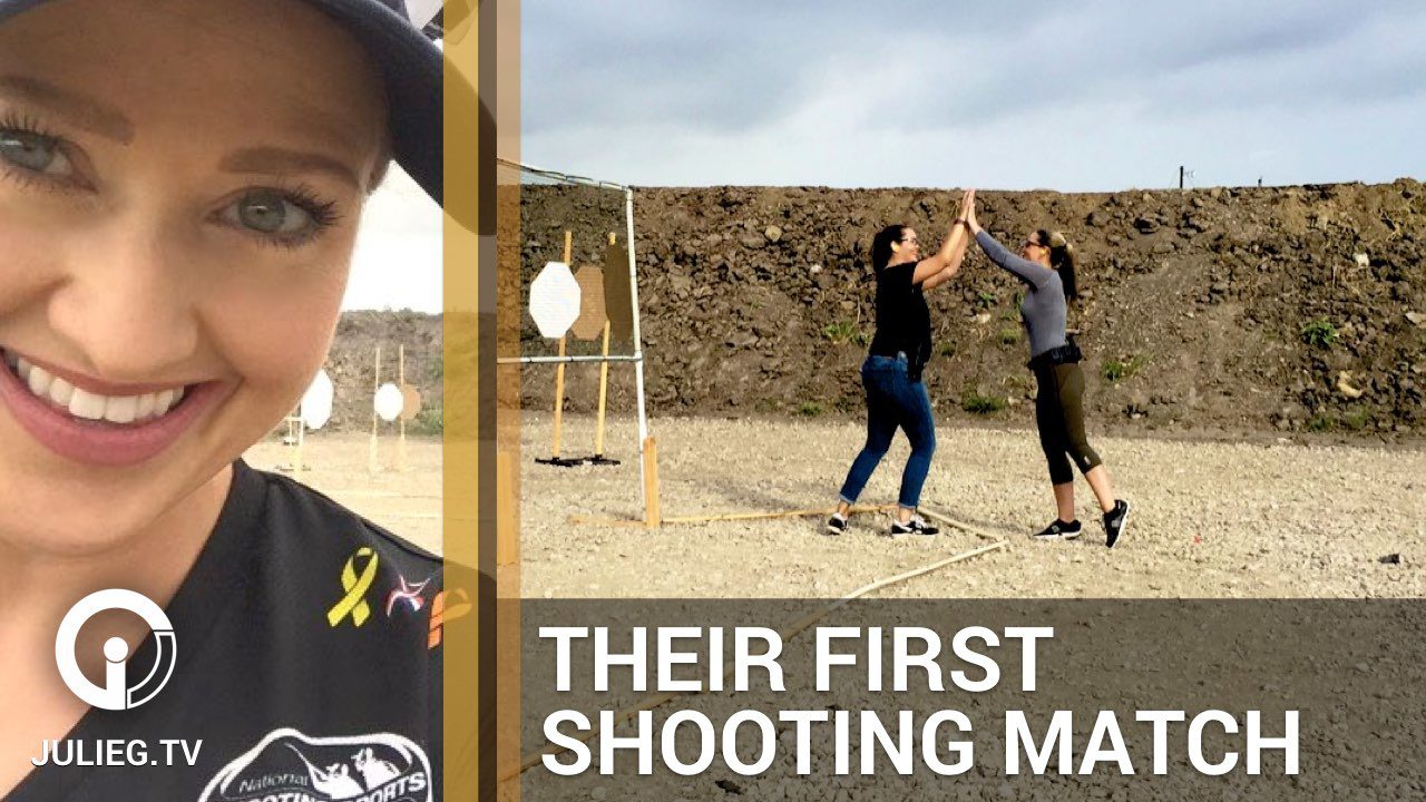 Women shoot their first USPSA practical shooting competition with Julie Golob for Love at First Shot