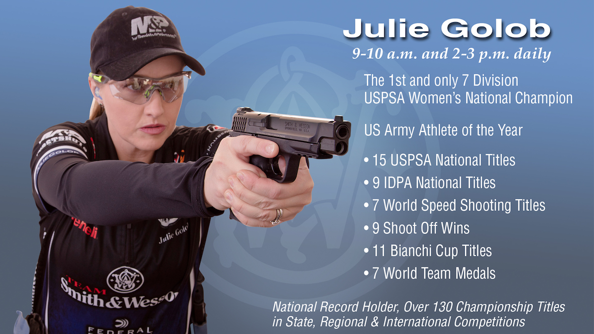 Team Smith & Wesson Captain Julie Golob at 2017 SHOT Show