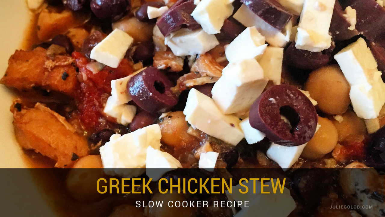 Julie Golob's Easy Greek Chicken Slow Cooker Stew Recipe