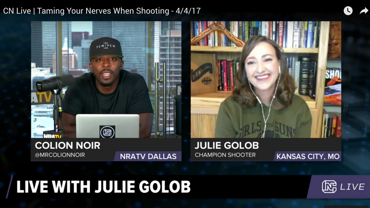 Julie Golob Talks About Dealing With Match Nerves on CN LIVE, NRA.TV