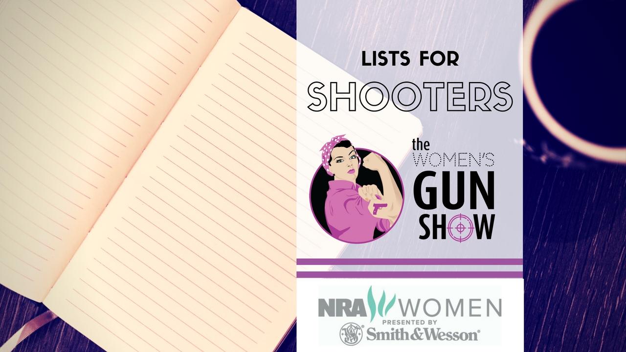 Women's Gun Show Julie Golob Useful Lists for Shooters
