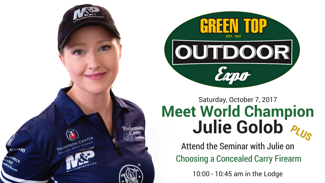 Julie Golob at Green Top Outdoor Expo